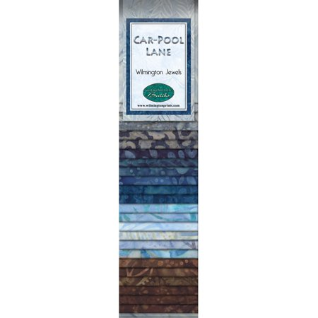 - Wilmington Batiks Car-Pool Lane Crystals 24 Strips 2.5 by 44 inches
