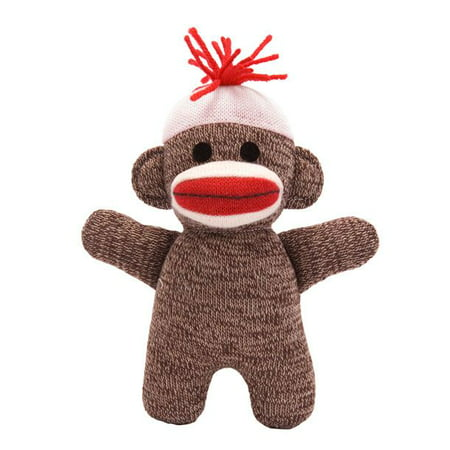 Schylling Toys Baby Sock Monkey Brown - Sock Monkey Merchandise