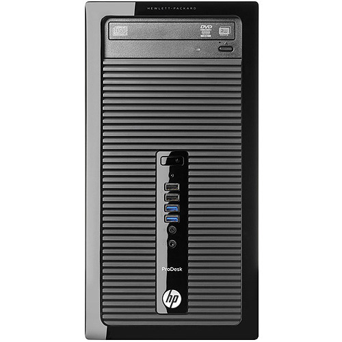 HP Black 405-G1 Desktop PC with AMD A4-5000 Processor, 4GB Memory, 500GB Hard Drive and Windows 8.1  Pro (Monitor Not Included)  (Free Windows 10 Upgrade before July 29, 2016)