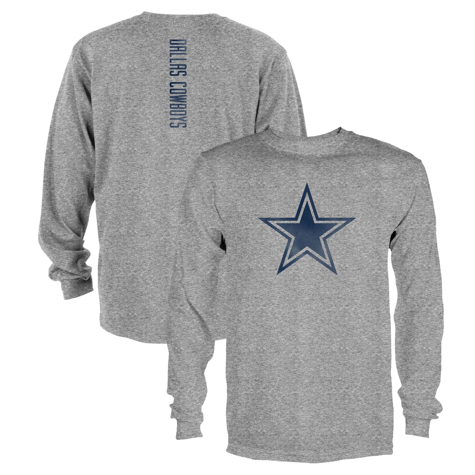 Men's Heathered Gray Dallas Cowboys Swiss Long Sleeve T-Shirt
