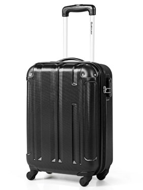 Gymax 18'' ABS Luggage Suitcase Carry On Lightweight Hardshell 4-Wheel Spinner Black
