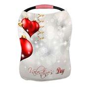 ECZJNT valentine's day glitter glossy red hearts flying air Nursing Cover Baby Breastfeeding Infant Feeding Cover Baby Car Seat Cover