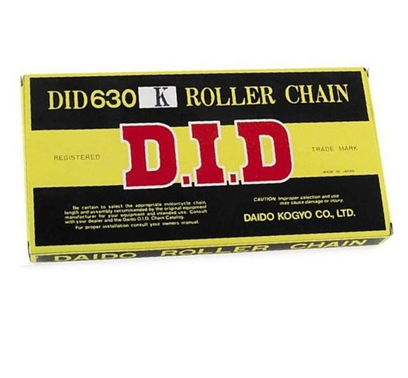 DID Heavy-Duty Standard Series 630K Chain 92 Links Natural for Street Motorcycle