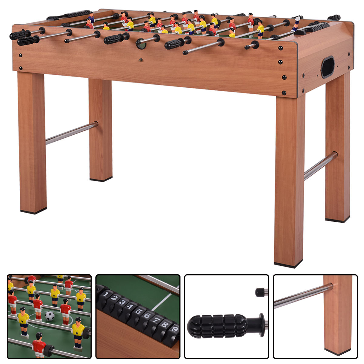 Costway 48'' Foosball Table Competition Game Soccer Arcade Sized Football Sports Indoor by Costway