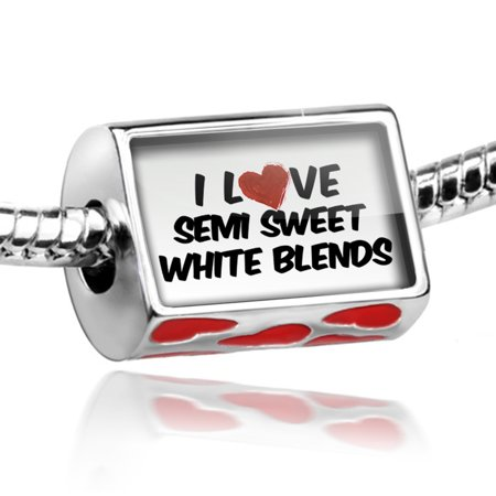 Bead I Love Semi Sweet White Blends Wine Charm Fits All European Bracelets