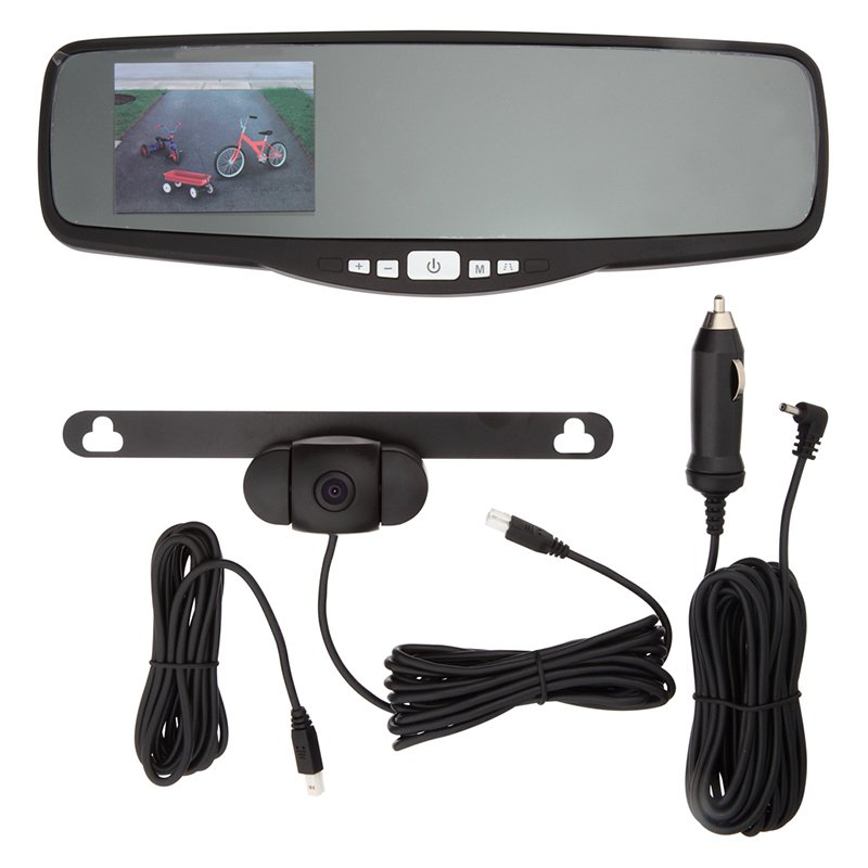 Peak 3.5 in. Rear View Mirror Backup Camera
