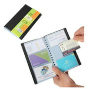 INTSUPERMAI Leather 120 Cards Business Name ID Credit Card Holder Book Case Keeper Organizer Office