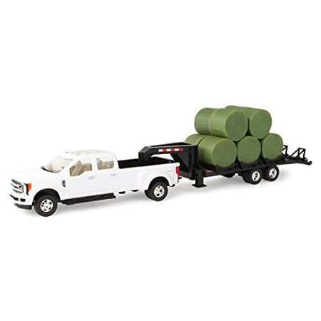 1/32 Ford F-350 Dually Pick Up with Trailer and Bales, 1/32 Ford F-350 Dually Pick Up with Trailer and Bales By