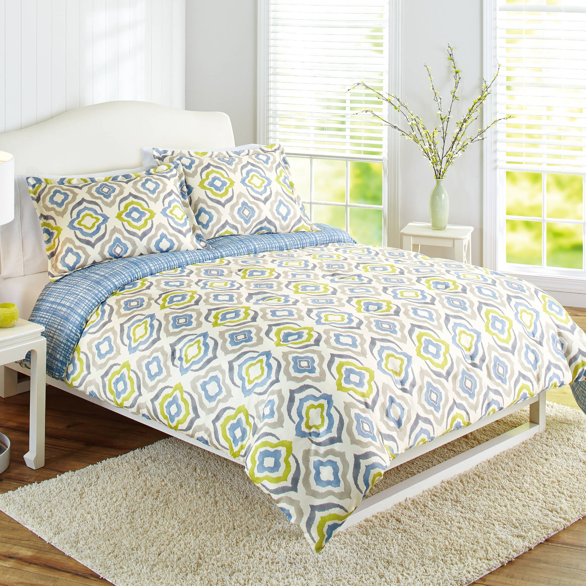 Better Homes and Gardens Elements Multi-Color Geometric 3-Piece Bedding Comforter Set