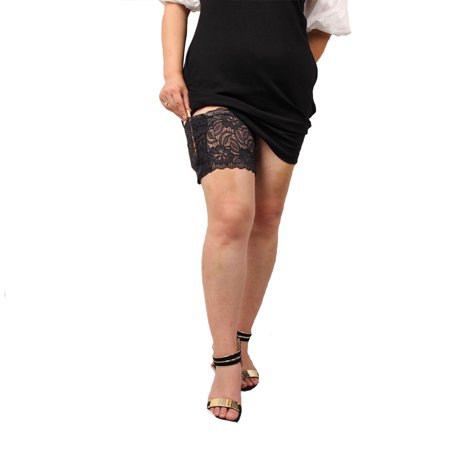 Women Anti Chafing Floral Lace Thigh Band Phone Pocket Anti-slip Thigh Sleeve