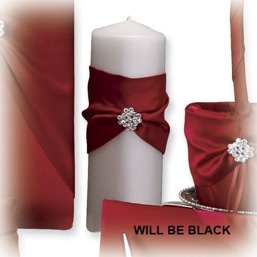 Black Garbo Pillar Candle Ceremonial Item Cle Holder For Women