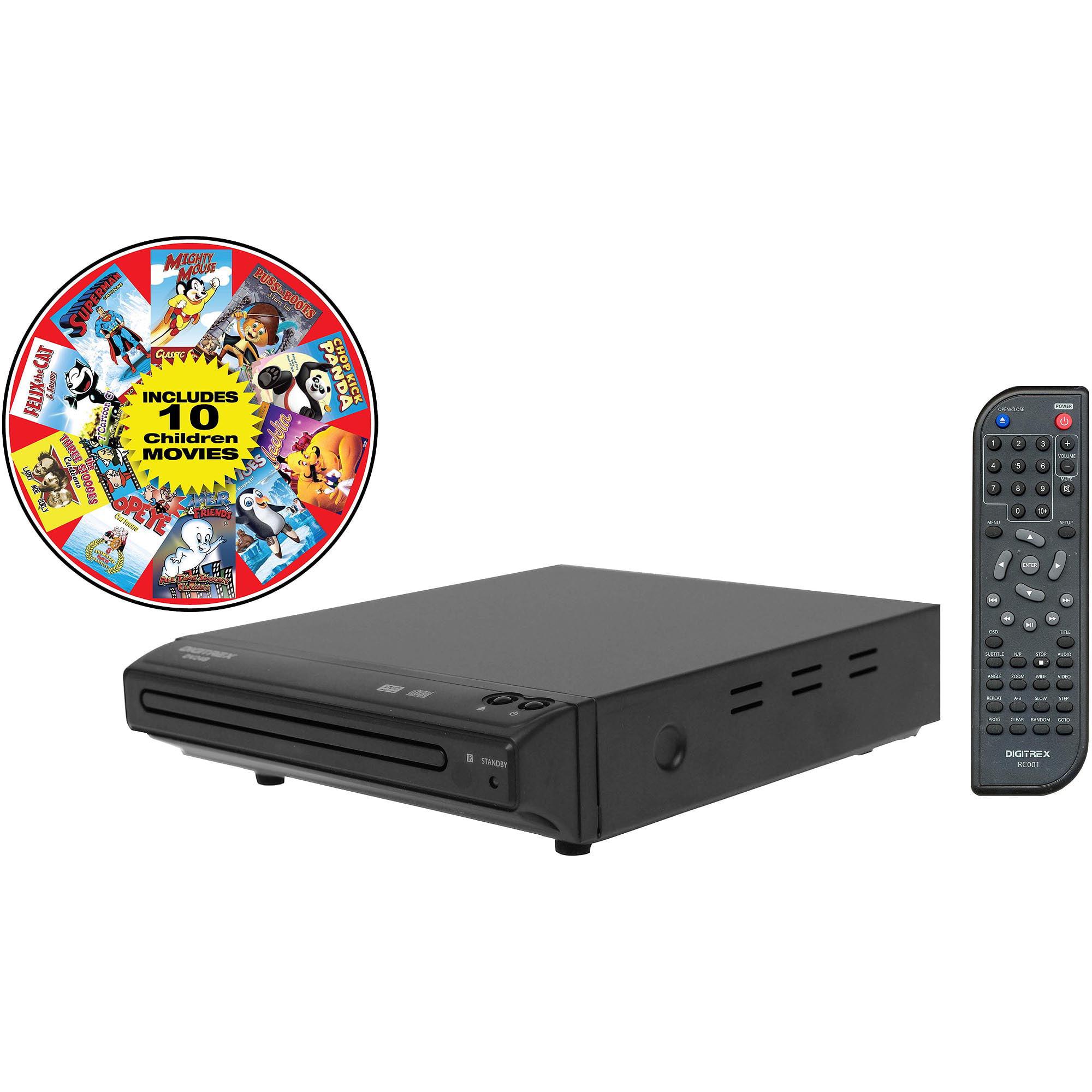 Digitrex DV24B DVD Player Bundle with 10 Free Movies