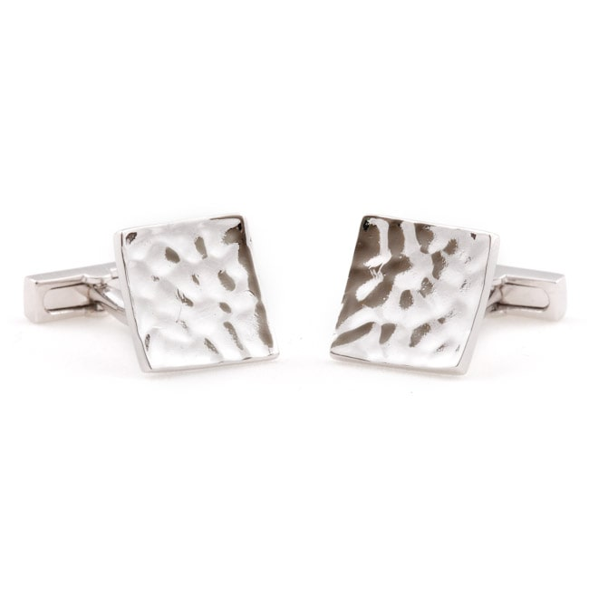 Cuff Daddy  Silver Concave Cuff Links