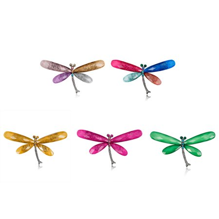 Alloy Dragonfly Accessory Rhinestone Lapel Pin Metal Brooch Jewelry Women Gift - image 3 of 6