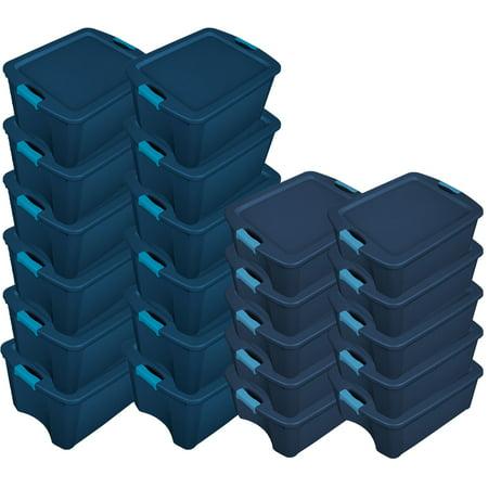 Sterilite 12 Gallon Latch Storage Tote (6 Pack) & 18 Gallon Latch Tote (6 Pack) (12 Gallon Tower)