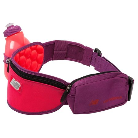 New Balance Unisex Helium H1O One Water Bottle Hydration Waistpack Purple Crimson Pink - Helium Bottle