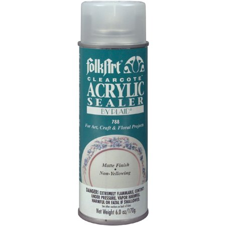 Plaid Folkart Clearcote Matte Acry. Spry Seal 6oz