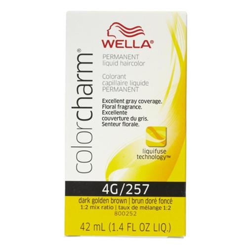 Wella Color Charm Liquid Haircolor 4g/257 Dark Golden Brown, 1.4 oz (Pack of 2)