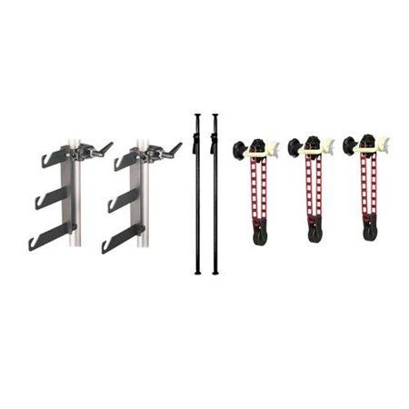 Manfrotto Complete Deluxe AutoPole/Expan Background Set with Deluxe Black AutoPoles, Background Holder Hook Set and 3 Expan Sets