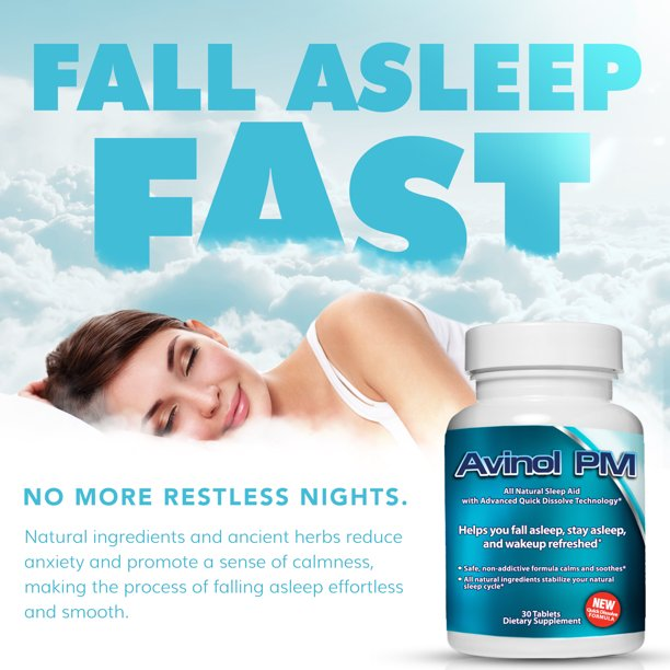 Best Natural Sleep Aid Avinol Pm Herbal Formula For Better Sleeping For Walmart Com Walmart Com