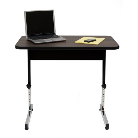 Calico Designs Adapta Table 20u0022 D x 36u0022 W, Black and Walnut