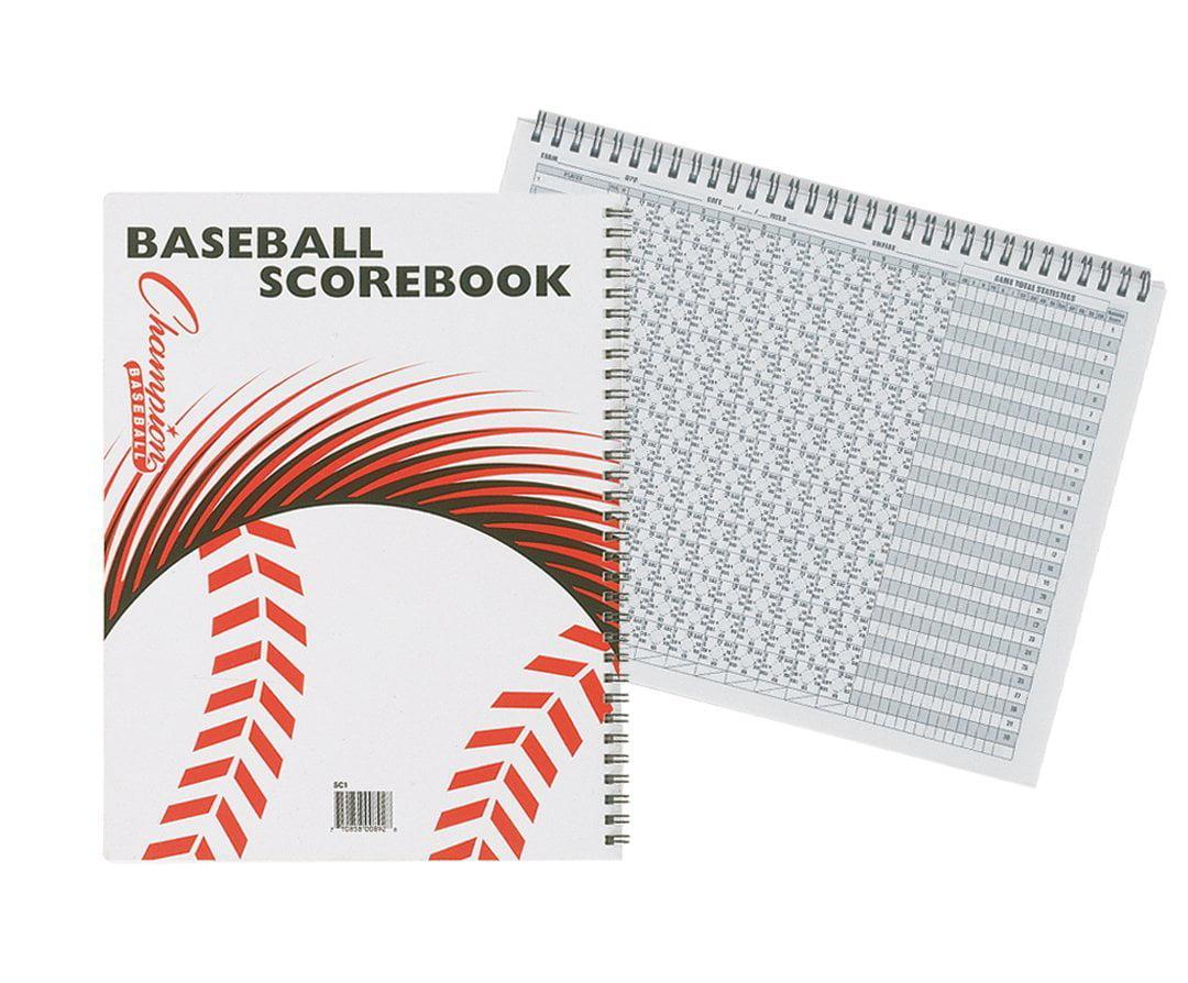 Champion Sports Baseball Softball Tee Ball Scorebook Stats Spiral Bound 25 Games by Champion Sports