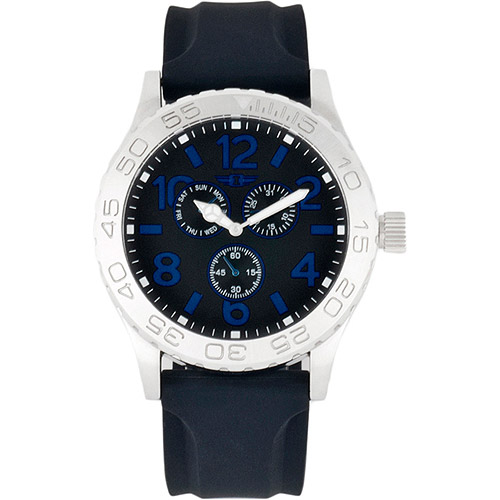 I By Invicta Men's Multifunction Watch, Black Rubber Strap