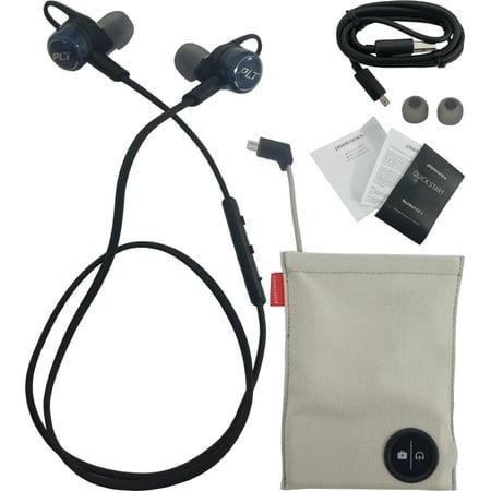 lowest price 7b2da 69b1c Plantronics Backbeat Go 3 Neckband Wireless Headphones + Charge Case Cobalt  Black (Refurbished)