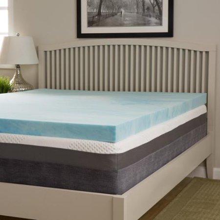 slumber solutions choose your comfort 3 inch gel memory foam mattress topper cal king soft. Black Bedroom Furniture Sets. Home Design Ideas