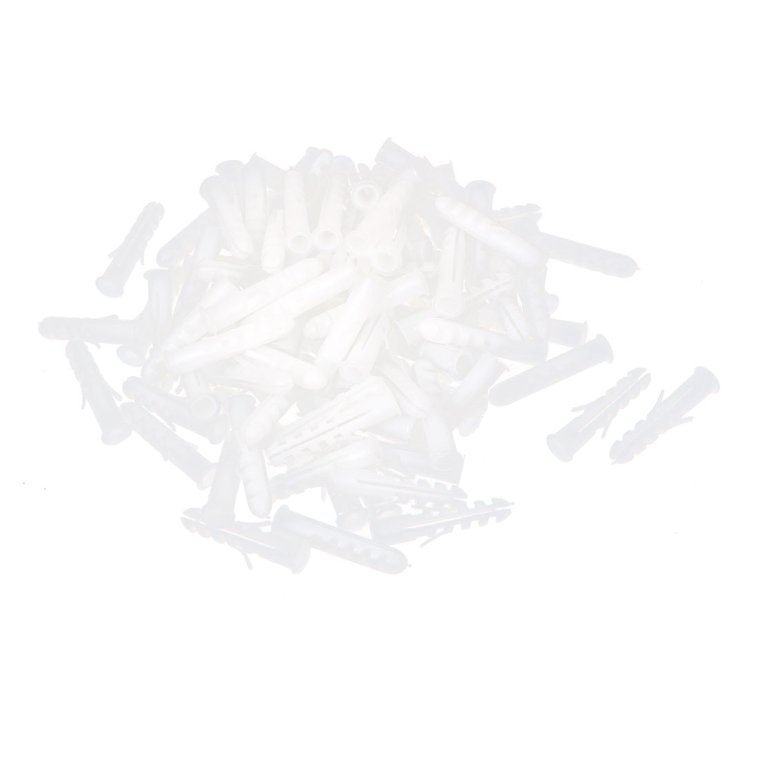 100pcs 40mm Long  Lag Screws Plastic Expansion Nail Plugs 8mm Dia
