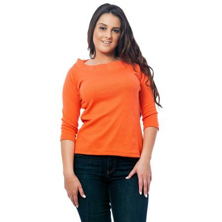 Ashworth Knit Shirt - Up2date Fashion's Women's Knit Boat Neck Top