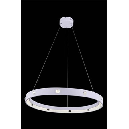 2096D29WH-RC 29.5 Dia. x 2.5 H in. Infinity Collection Hanging Fixture - Royal Cut, White -