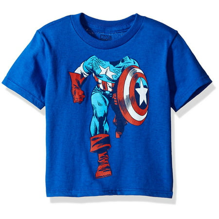 Captain America Toddler Boy Headless Superhero Short Sleeve - Superhero Spandex Shirts