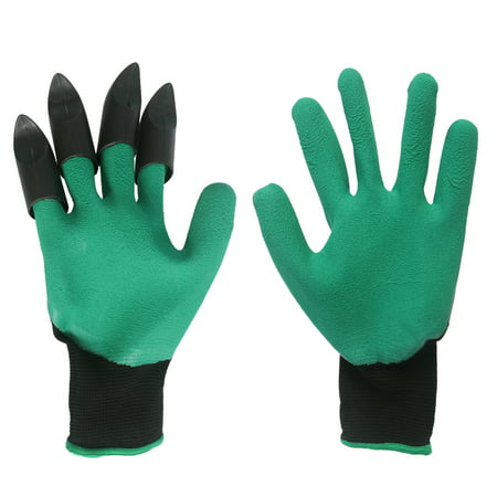 Garden Genie Gloves Men's & Women's Work Glove with Claws on Right Hand for Digging and Planting - Catwoman Gloves With Claws