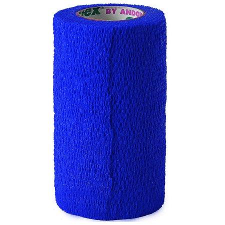 "4"" X 5 COFLEX FLEXIBLE COMFORTABLE SELF ADHESIVE QUICK BANDAGE DARK BLUE"