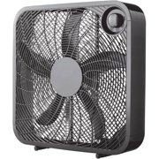 "Mainstays 20"" 3-Speed Box Fan, Model# FB50-16HB, Black"