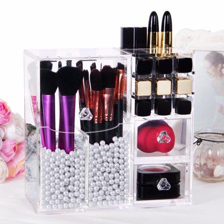 lifewit brush holder lipstick case drawer makeup acrylic organizer display lid. Black Bedroom Furniture Sets. Home Design Ideas