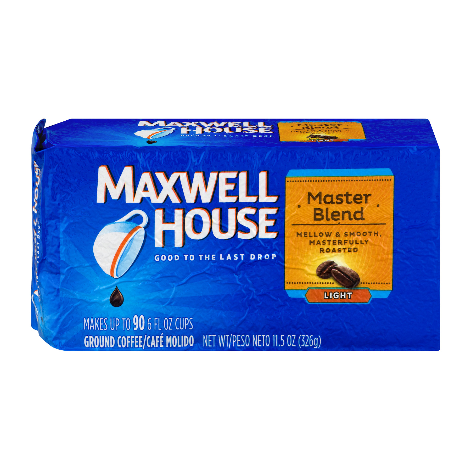 Maxwell House Light Roast Coffee Grounds Master Blend, 11.5 OZ