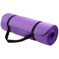Everyday Essentials All-Purpose High Density Foam Exercise Yoga Mat Anti-Tear with Carrying Strap