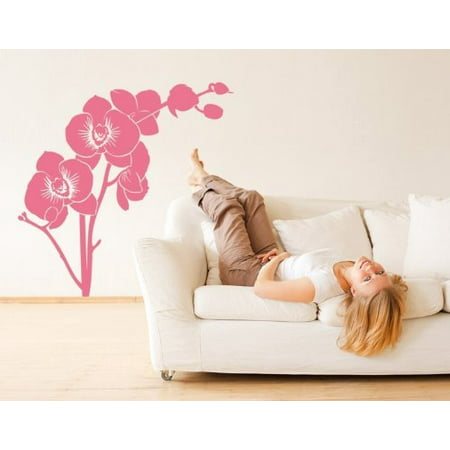 Orchid Branch Wall Decal floral wall decal sticker mural vinyl art hom