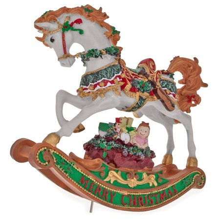- Rocking Horse with Christmas Gifts Musical Figurine