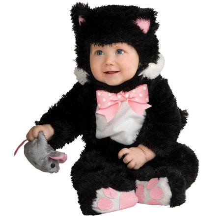 Kitty Baby Costume (Inky Black Kitty Costume Baby - Infant 12-18)