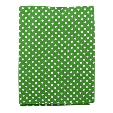 Bacati Curtain Panel Green Pin Dots Mix N Match, 1.0 CT