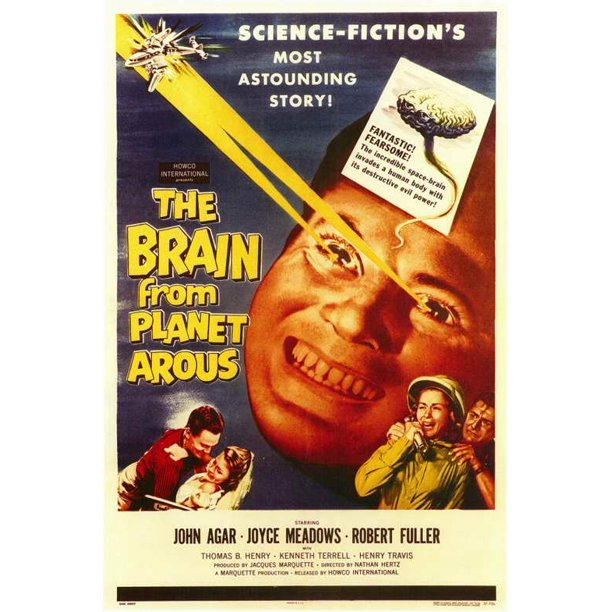 "The Brain From Planet Arous - movie POSTER (Style A) (11"" x 17"") (1958)"