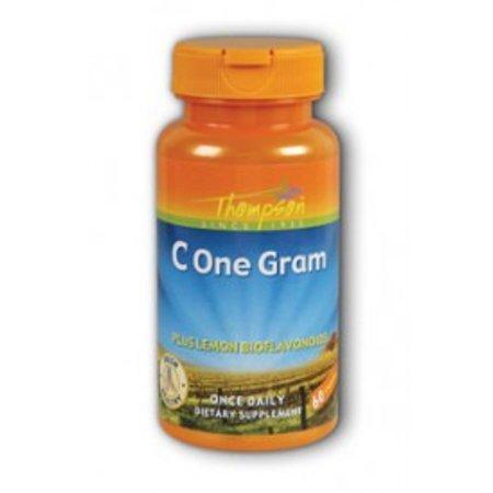 One Gram C with Lemon Bioflavonoids 1000mg Thompson 60 Caps