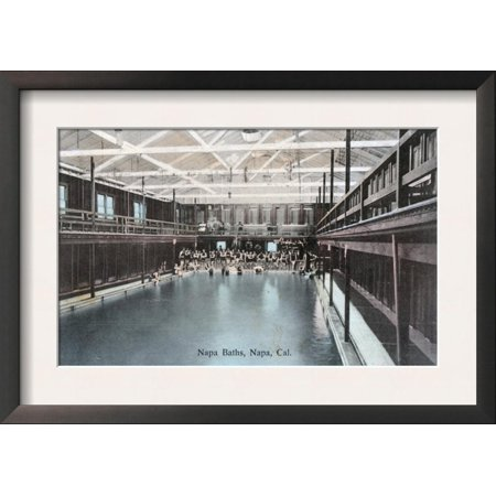 Interior View of the Napa Baths - Napa, CA Framed Art Print Wall Art  - 18.5x13](Halloween City Napa Ca)
