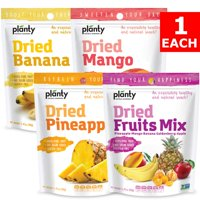 Planty Dried Fruit Snacks, No Sugar Added, Non-GMO, Vegan and Kosher Certified (Variety, 4-Pack)
