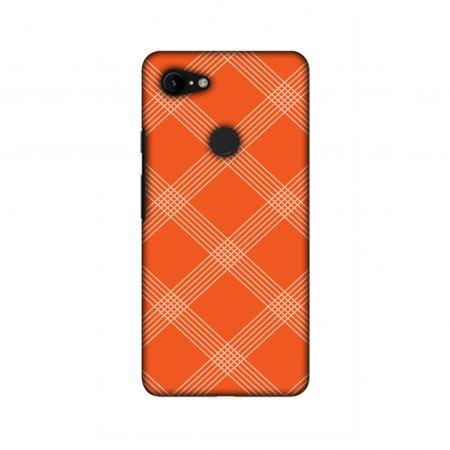 Google Pixel 3 Case, Ultra Thin Designer Hard Shell Case Back Cover for Google Pixel 3 [5.5 Inch, 2018 Release] - Carbon Fibre Redux Tangy Orange (Rt5 Carbon)