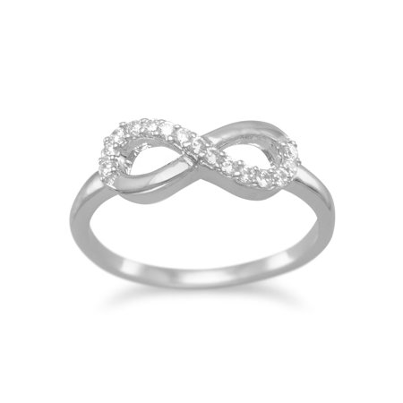 284a123732e92 Sterling Silver Cubic Zirconia Infinity Symbol Ring