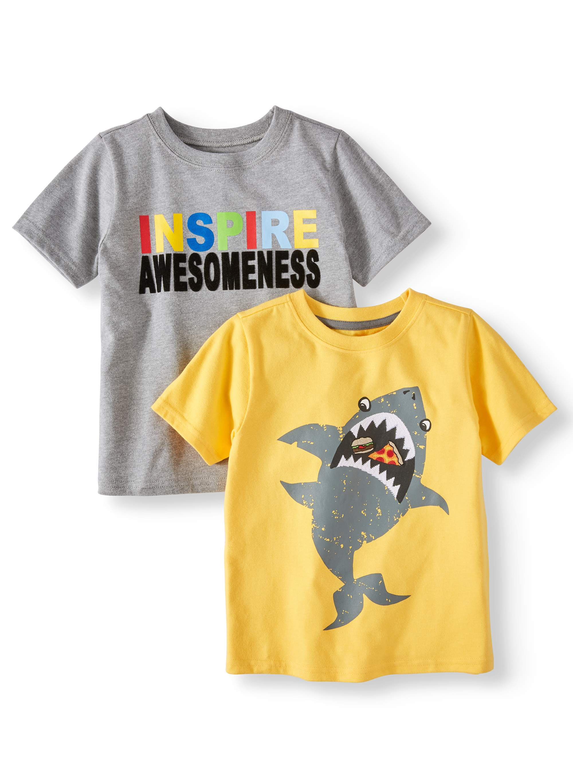 Graphic T-Shirts, 2pc Multi-Pack (Toddler Boys)